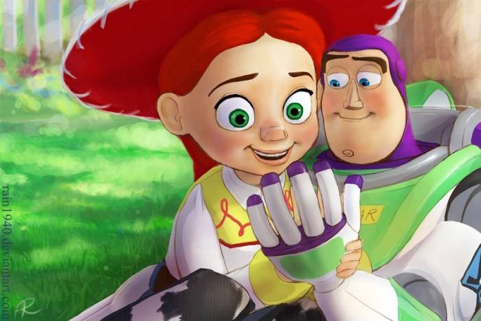Баз Лайтер и Джесси из Истории игрушек