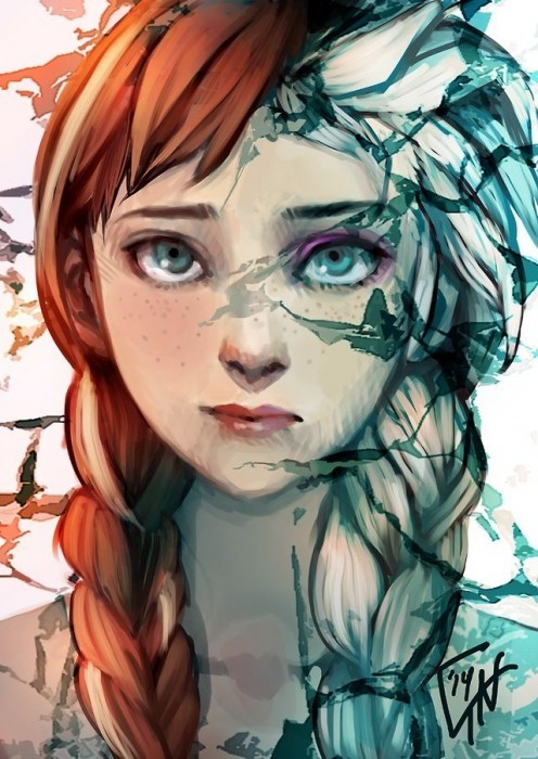 Анна Эльза холодное сердце