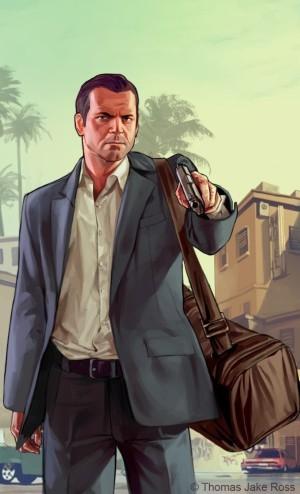 Майкл де Санта из игры ГТА 5