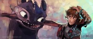 Иккинг и Беззубик из мультфильма