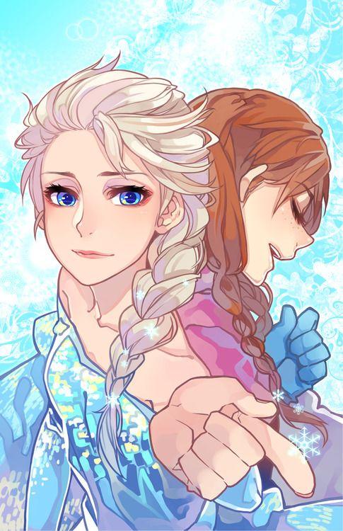 Анна и Эльза из Холодного сердца