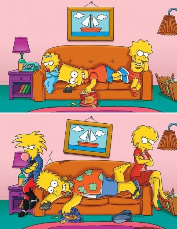 взросление Симпсонов