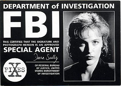 Данна Скалли из Секретных материалов