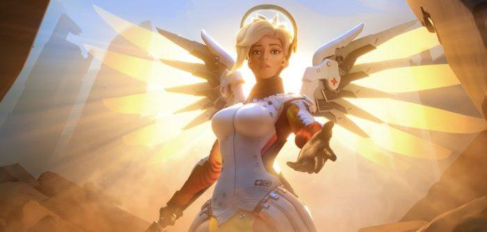 Ангел из игры Овервотч
