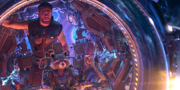 Тор и Стражи Галактики в корабле