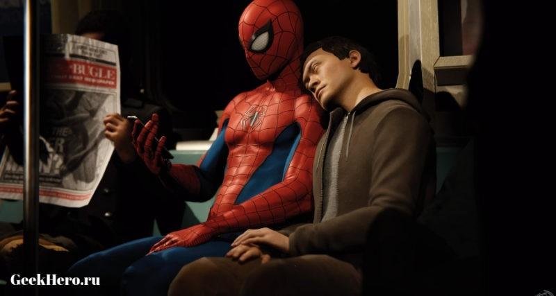 Геймплей Человека паука 2018 игра