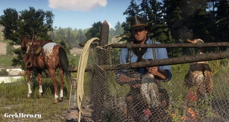 Охота в игре Red Dead Redemption2