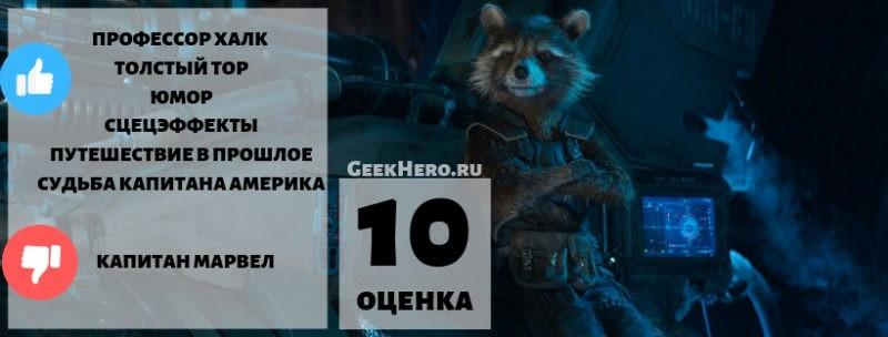 Оценка фильма Мстители 4
