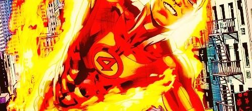 Человек-факел из комиксов
