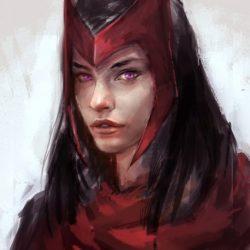 Алая Ведьма из комиксов Марвел