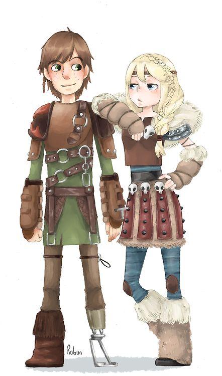 Астрид и Иккинг из мультика