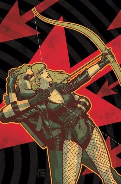 Зеленая стрела и Канарейка из комиксов