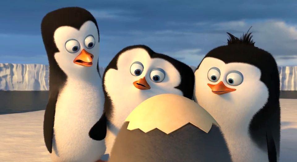 шкипер пингвин в детстве