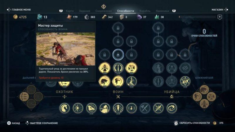 Навыки в игре Assassin's Creed Odyssey5