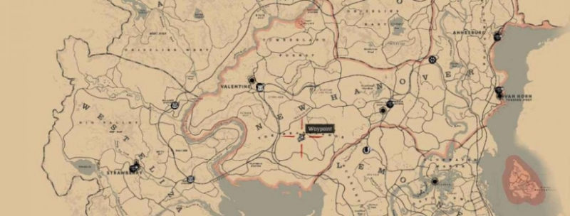 кости динозавров в Red Dead Redemption 6